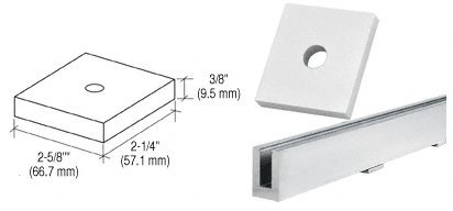 CRL Aluminum Drain Block for B6S Base Shoe by CR Laurence