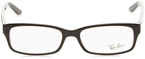 Noir 50mm Shiny lunettes Homme Pour black de Optical Montures RX5187 Ray Negro Ban nS8vx8P