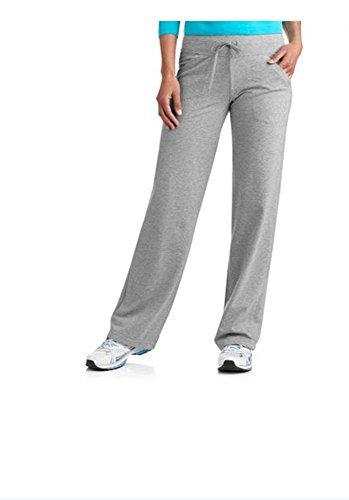 Danskin Now Women's Plus-Size Dri-More Core Relaxed Fit Workout Pant - 1X Plus - Gray