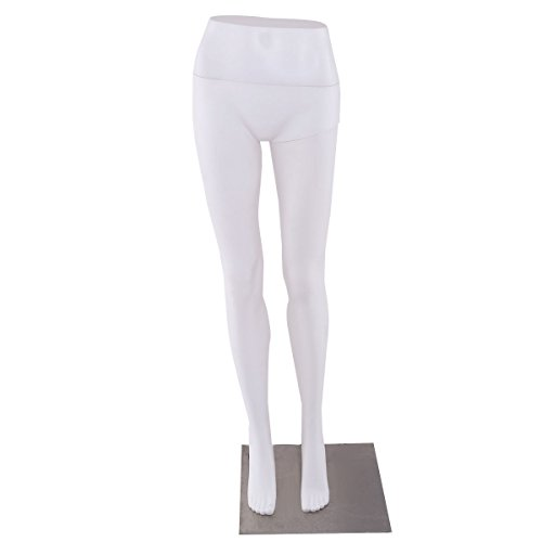 Female Half Body Legs Mannequin Plastic Pants Form Display w/ Metal Base New
