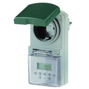 Digitale Wochen-Zeitschaltuhr für Außen, IP44, 1800 Watt - Zur Steuerung z.B. der Gartenbeleuchtung oder Teichpumpe