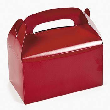 Dozen Red Treat Boxes (Holiday Treat Boxes)