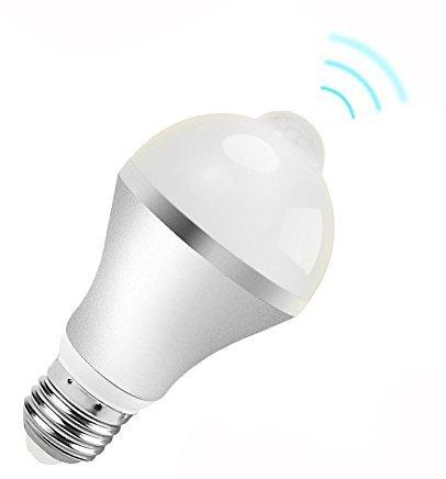 Eximone E27 9W Sensor de Movimiento LED Bombilla Luz de Noche para Jardín Cerca Patio Yarda