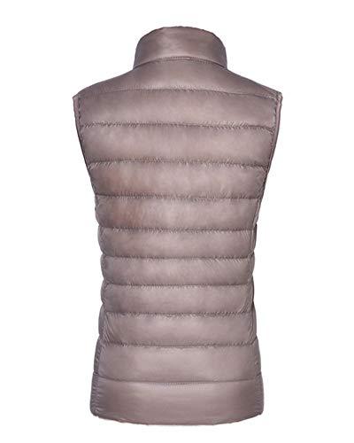 Warmers Standing Padded Down Puffer Sleeveless Gilets Body Khaki Coat Jacket Women's AnyuA Collar Vest xwEnqS4YFE