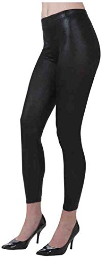 [Forum Novelties 1980's Costume Shiny Black Stretch Leggings] (Alien Dress Up Ideas For Kids)