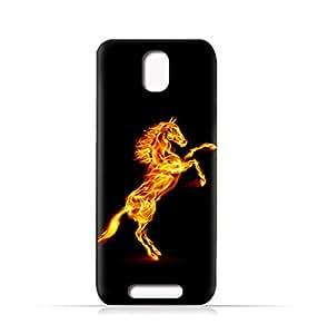 AMC Design Lava Iris Fuel 50 TPU Silicone Case With Horse On Flame Design - Multi Color
