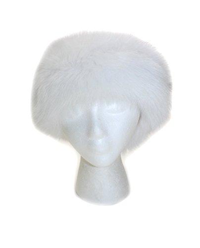 511250 New Natural White Fox Fur Headband Hat Collar Head Wrap Cute Accessory