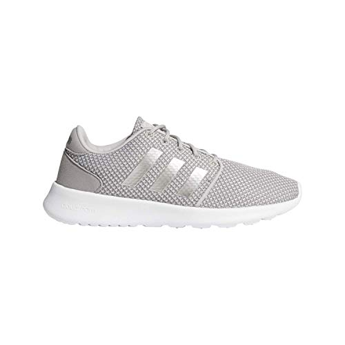 adidas Women's Cloudfoam QT Racer Shoes, Light Granite/Silver Metallic/Grey, 9.5 M US
