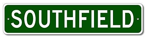 Southfield, Michigan - USA City Sign - Aluminum 4