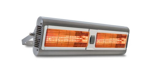 Solaira Alpha Series 32 In. Electric Patio Heater, 4000 Watts 240 Volts, Silver (Overhead Patio Heaters)