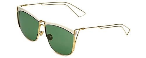 Christian Dior Sunglasses SO ELECTRIC 266DJ White Gold Frame Green ()