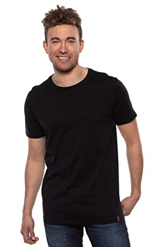 Texere Men's Crew Neck T-Shirt (Komi, Black, XL) Top for ()