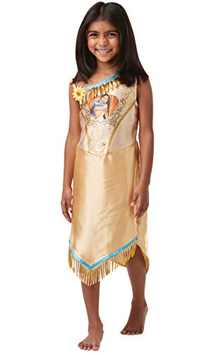 Rubie's Official Disney Princess Sequin Pocahontas Classic Costume, Childs Size Small Age 5-6 years, Height 116 -