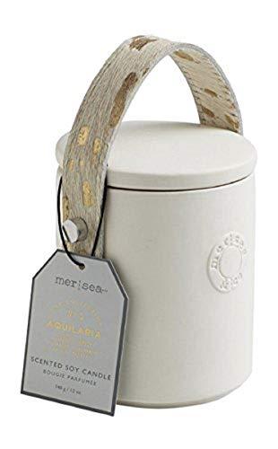 Mer Sea 12 oz. White Bisque Ceramic Luxe Candle (Aquilaria Cowhair)