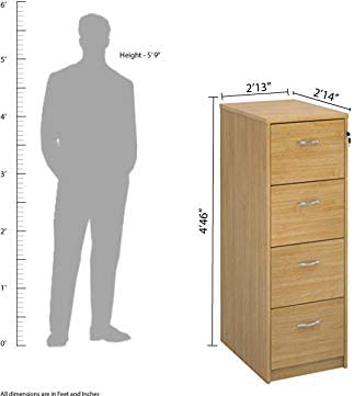 Foolscap Filing Office Storage from The Relax Office Furniture Range Maple Oak Oak White or Walnut Finish Deluxe 4 Drawer Wood Filing Cabinet in Beech
