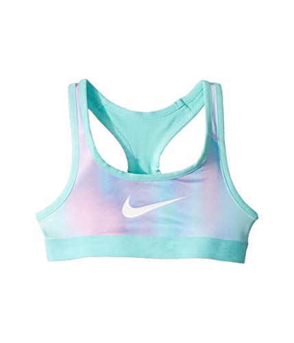 Nike Girl's Pro Compression Unicorn Reversible Sports Bra (Twilight Pulse/Light Aqua, Medium) (Nike Pro Sports Bra Kids)