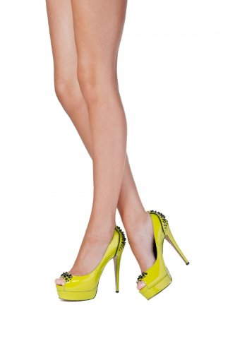Janiko High-Heels Fizz Peep-toe sour green MF303