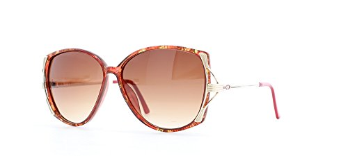 Vintage Dior Sunglasses (Christian Dior 2529 30 Red Certified Vintage Rectangular Sunglasses For Womens)