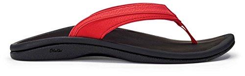 Ohana Hibiscus OLUKAI Women's Sandals Black 4aOxRdO