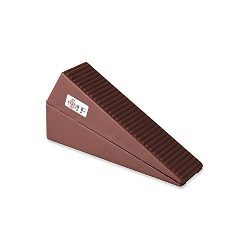Industrial Door Stop, Door Stopper Wedge For Large Door Gaps to Keep Door Securely Open on All Surfaces, Non-Scratching Decorative Doorstop –Brown