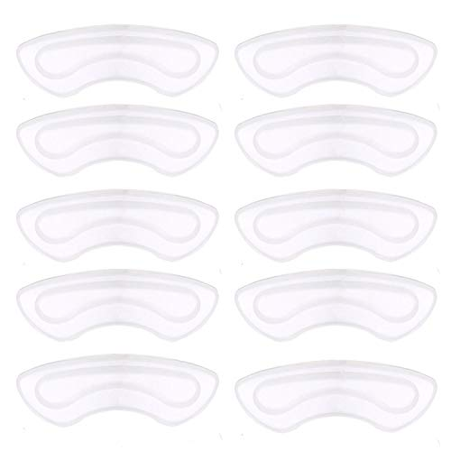 NaCare Gel Heel Grips Pads Shoe Cushion Insert Liners, 10PCS, Clear