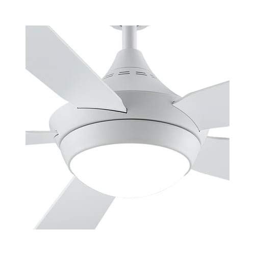 Fanimation Celano v2 - 52 inch - Matte White with Matte White Blades with LED Light Kit and Bluetooth Control and Remote - FP8062MW