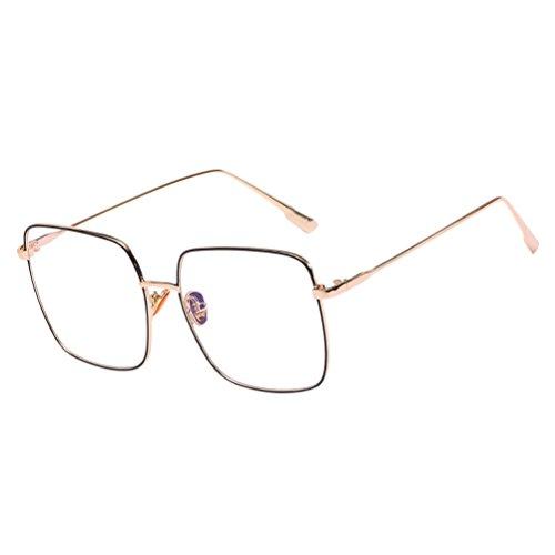 UV lunettes Zhhlinyuan Protection Qualité Men lunettes amp;Black soleil Étui à de for Glasses Sunglasses Gold Mode Metal Unisex amp; Vintage Safety Women rYSZqwY4