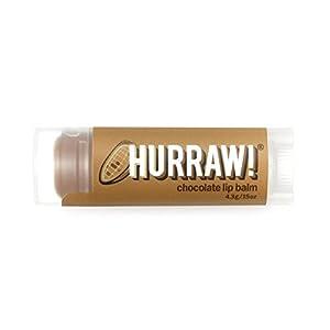 Chocolate Hurraw! Lip Balm: Organic, Certified Vegan, Certified Cruelty Free, GMO Free, Gluten Free, All Natural – Luxury Lip Balm Made in the USA – CHOCOLATE