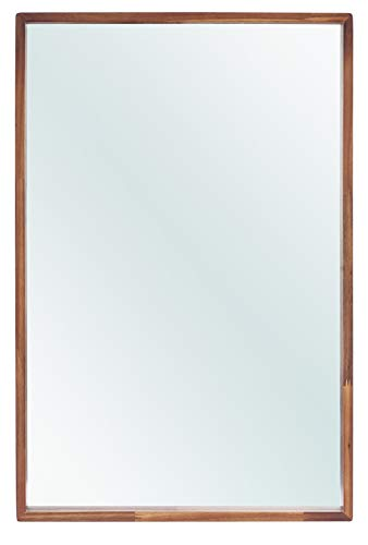 The Vine Square Wood Framed Mirror May 23.5 x 33.5 | Rectangular, - Wall Mirrors Wooden Acacia Bathroom