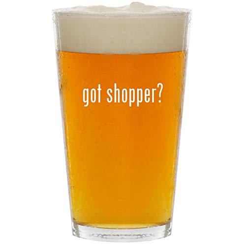 (got shopper? - Glass 16oz Beer Pint)
