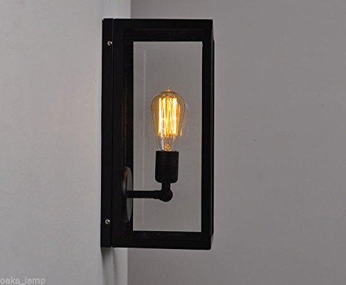 Retrò scatola di vetro di lampada da parete a camera da letto di