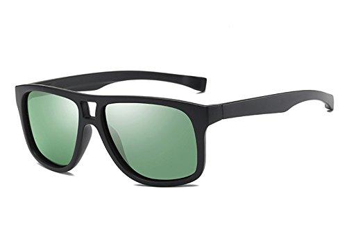 Mode green lunettes lunettes femmes black dark miroir revêtement de Guide Lunettes polarisé les unisexe Sunglasses TL hommes Lunettes de pour Homme Marque qwxIUv1