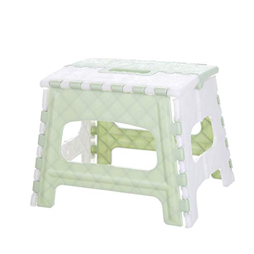 Gotd Folding Step Stool for Kids/Adults Plastic Multi Purpose Folding Step Stool Home Train Outdoor Storage Foldable for Kitchen, Bathroom, Bedroom