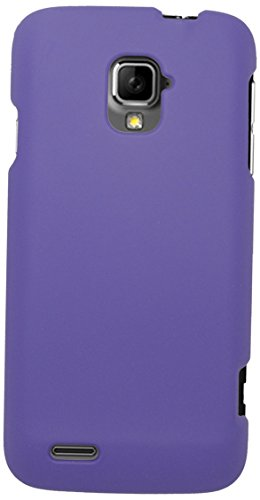 Eagle Cell Snap-On Rubberized Hard Protector Case for ZTE Rapido LTE Z932L - Retail Packaging - Purple