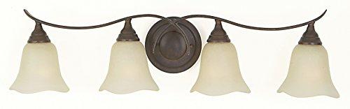 Feiss VS10604-GBZ Morningside Glass Wall Vanity Bath Lighting, Bronze, 4-Light (31