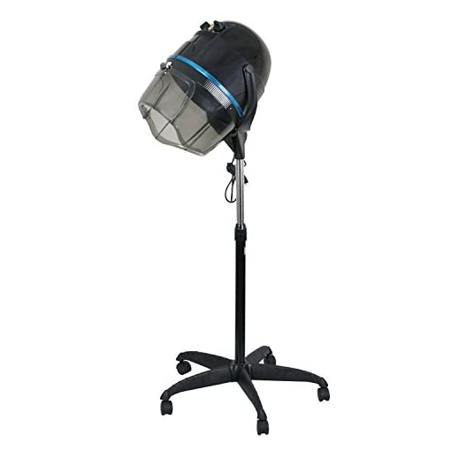 Professional 1300W Adjustable Hooded Floor Hair Bonnet Dryer Stand Up Rolling Base with Wheels Salon Equipment - 31sXnfJv18L - Professional 1300W Adjustable Hooded Floor Hair Bonnet Dryer Stand Up Rolling Base with Wheels Salon Equipment