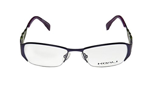 Koali 6916k WomensLadies Optical In Style Designer Half-rim EyeglassesEyewear (50-17-135 Purple  Green)