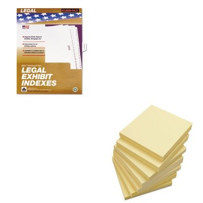 KITKLF81005UNV35668 - Value Kit - KLEER-FAX 80000 Series Legal Index Dividers (KLF81005) and Universal Standard Self-Stick Notes (UNV35668)
