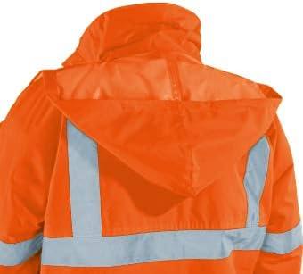 Wind 3XL Vizwell Warnschutz-Regenjacke,atmungsaktiv und wasserdicht orange-Marine Gr.S