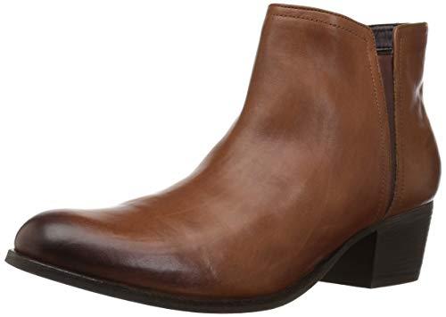(CLARKS Women's Maypearl Ramie Fashion Boot, Dark tan Leather, 065 M US)