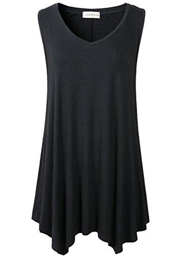 Lanmo-Womens-Tunic-Plus-Size-Long-Flowy-Tank-Top-V-Neck-Loose-Basic-T-Shirt