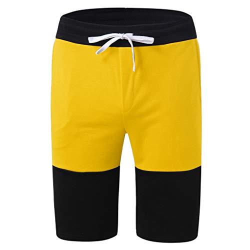 Men Shorts Swimsuit Stripe Sports Running Hip Hop Trousers Casual Beach Drawstring Short Pants ()