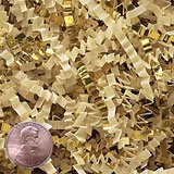Krafty Klassics 1/2 lb (8oz) French Vanilla/Gold Metallic Mix Crinkle Cut Crimped Paper Shred