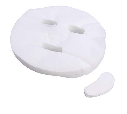 eS³kube Enlarged Cotton Facial Sheets with Cotton Under Eye Mask Sheets DIY Cosmetic Face to Skin Care Mask to reduce…