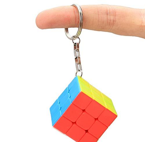Regalos creativos de tercer orden Llavero de cubo de color sólido Llavero de cubo de Rubik (colorido)