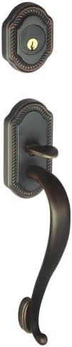 Georgetown Handleset Exterior with S-Grip Vintage Brass Finish #GS73-GEOSGR-HS-SC