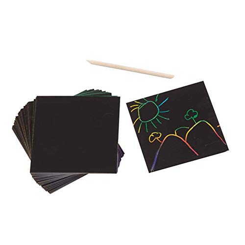 Art Craft Ideas (Melissa & Doug Scratch Art Box of Rainbow Mini Notes (Arts & Crafts, Wooden Stylus, 125 Count, Great Gift for Girls and Boys - Best for 4, 5, 6 Year)
