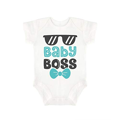 (Promini Cute Baby Onesie Baby Boss (3) Baby Bodysuit Infant One Piece Baby Romper Best Gift for Baby White)