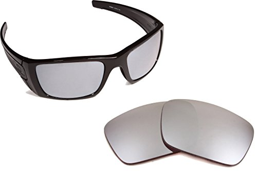 Best SEEK Replacement Lenses Oakley FUEL CELL - Polarized Silver Mirror by Seek Optics