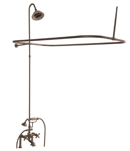 (Barclay 4063-MCPB Polished Brass Code Rectangular Shower Unit with Elephant Spout and Cross Handles)